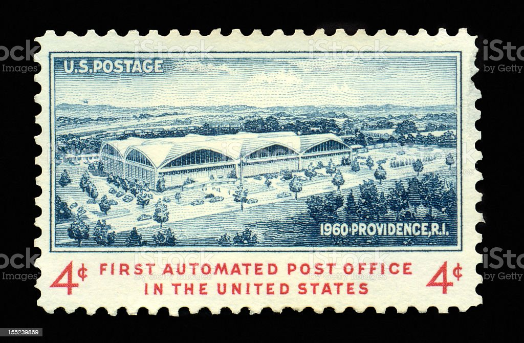 Four Cent First Automated Post Office royalty-free stock photo