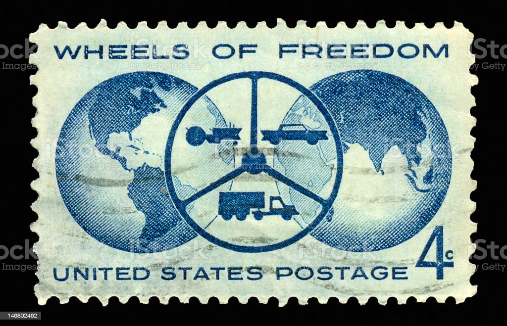 Four Cent - Wheels of Freedom royalty-free stock photo