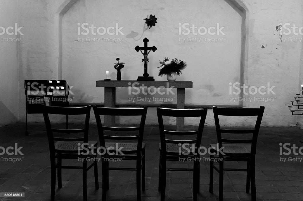 Quattro sedia e Dio, dove poi ammettere fin dal principio per sin foto stock royalty-free
