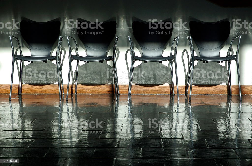 Four chairs royalty-free stock photo