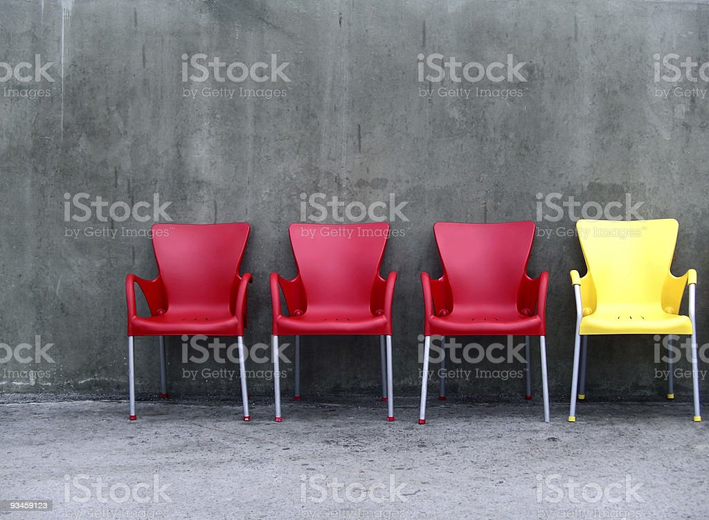 Four Chairs stock photo