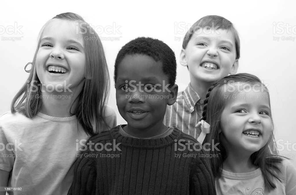 Four Children royalty-free stock photo