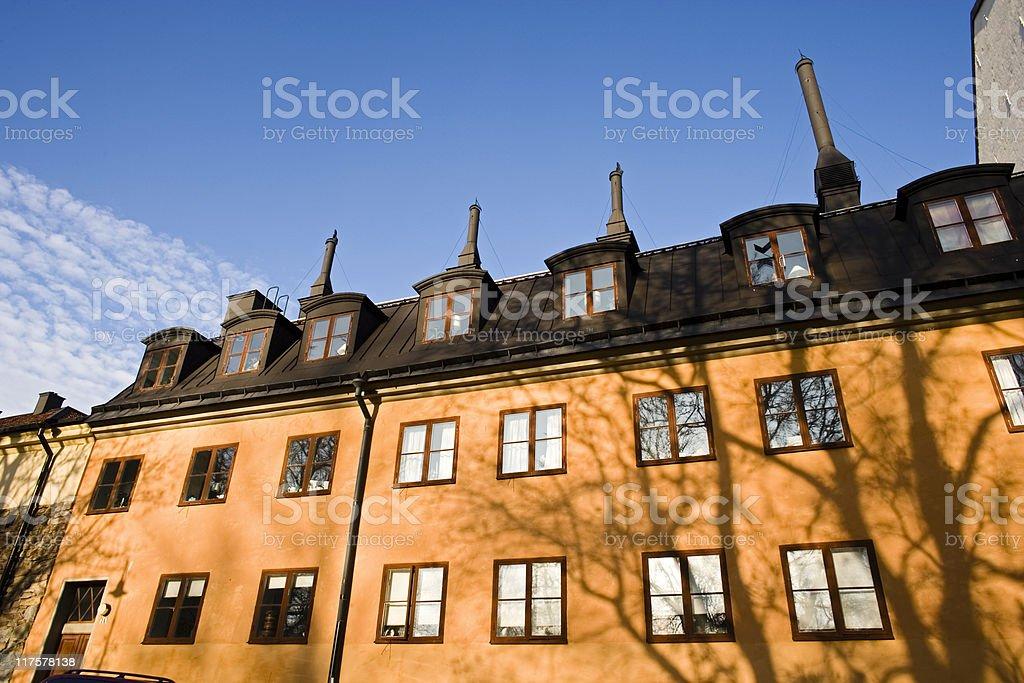Four chimneys royalty-free stock photo