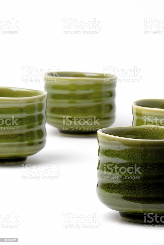 four chinese tea cups 2 stock photo