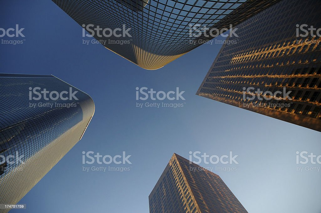 four city towers stock photo