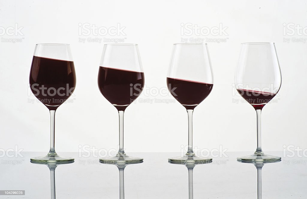 Four cocktails royalty-free stock photo