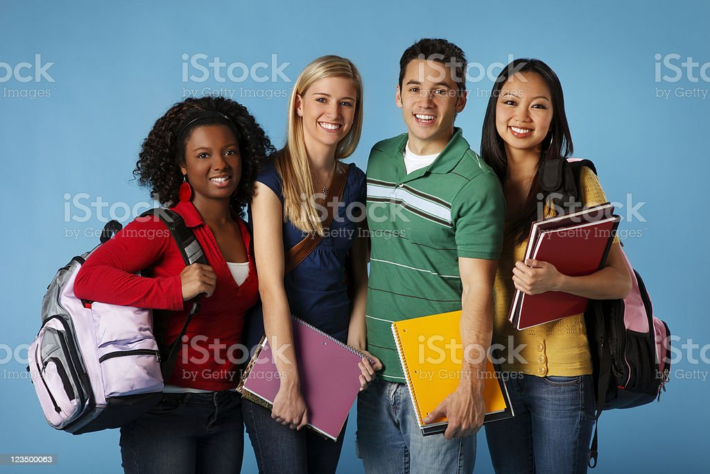 Four College Students royalty-free stock photo