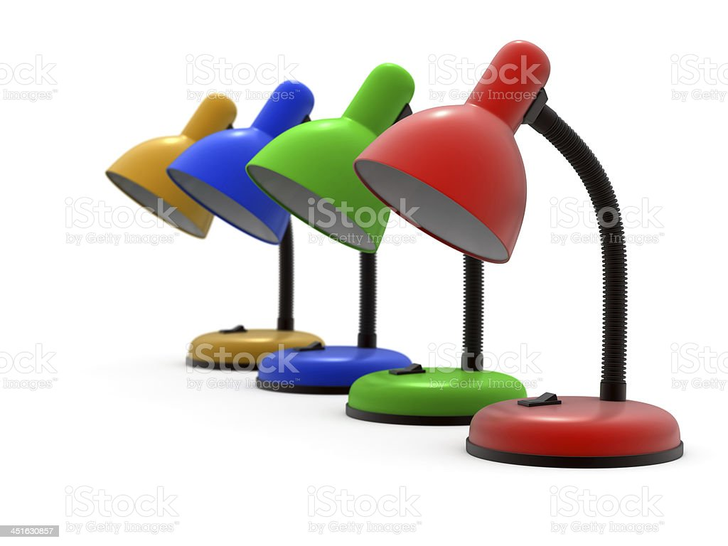 Four color lamp royalty-free stock photo