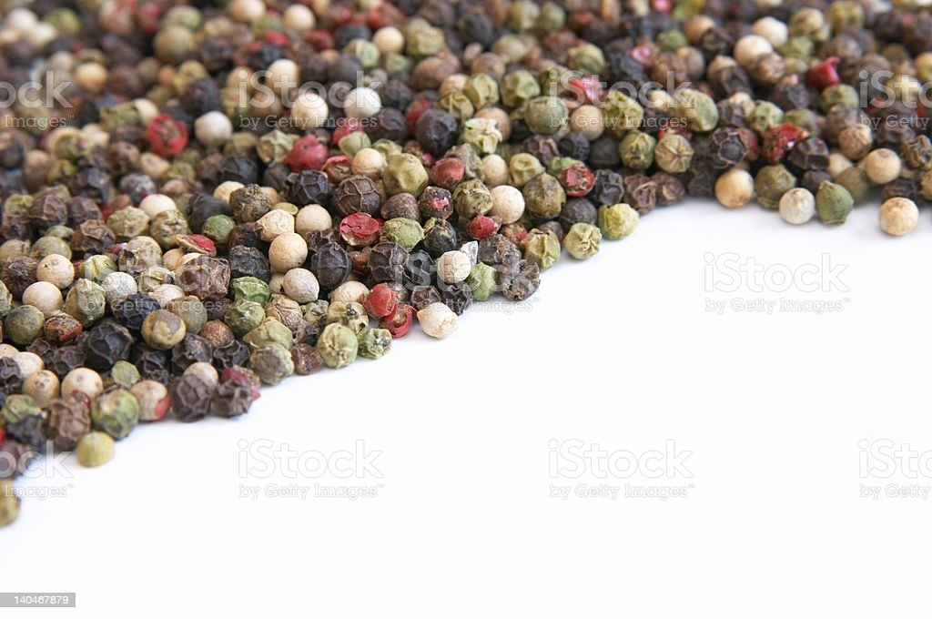 four colour pepper royalty-free stock photo