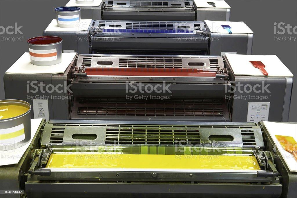four colour printing press royalty-free stock photo