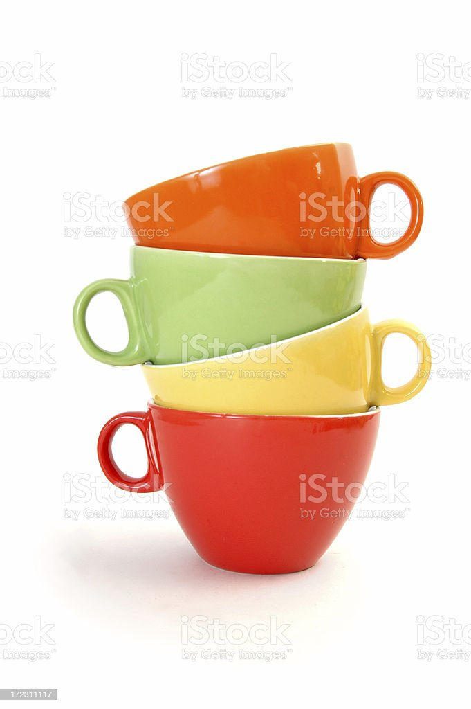 Four Colourful Mugs royalty-free stock photo