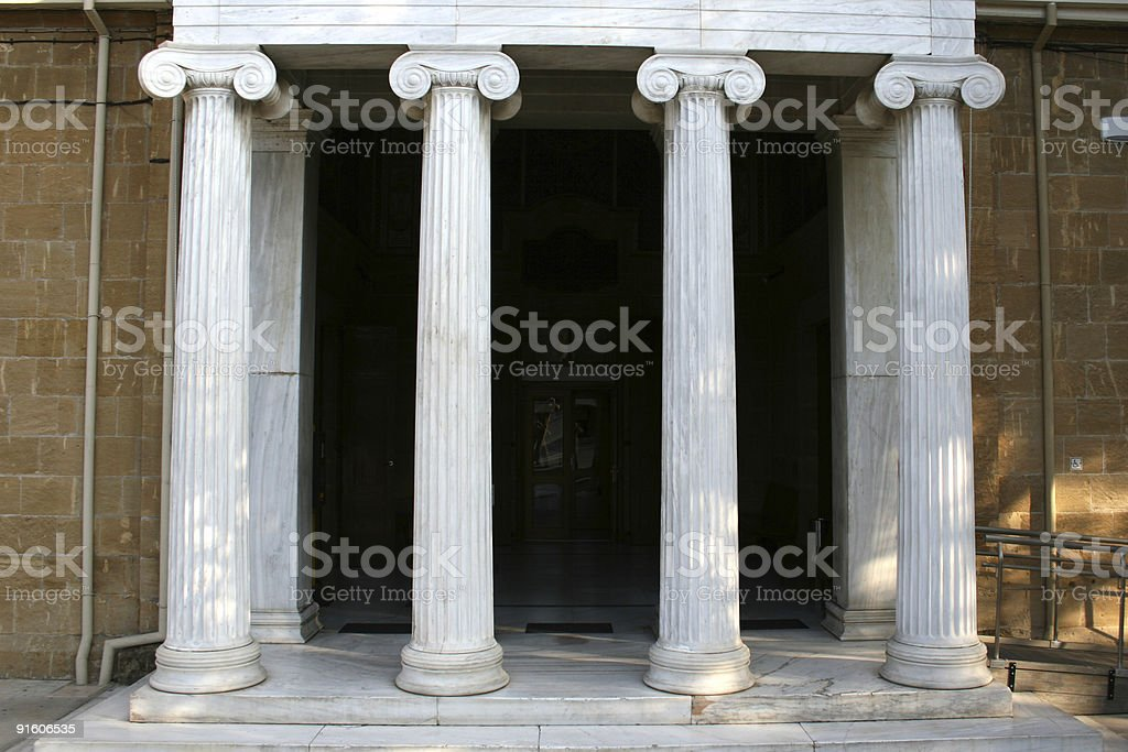Four columns in a row stock photo
