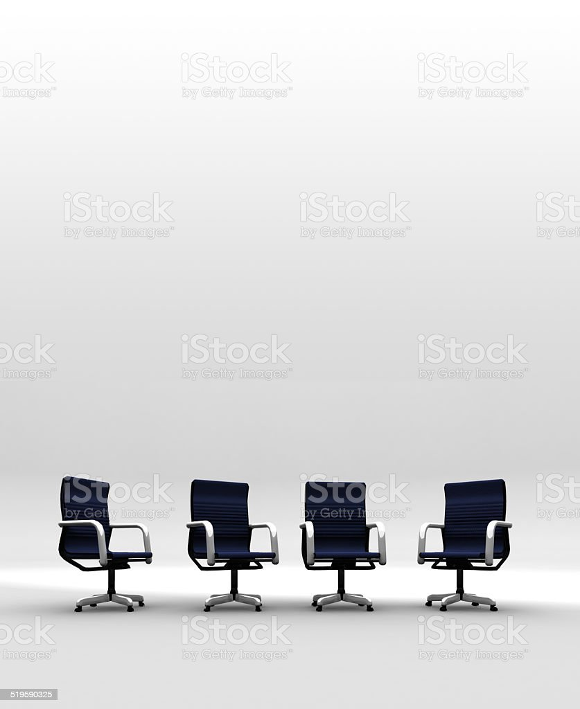 Four Corporate Chairs stock photo