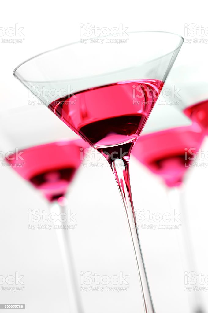 Four Cosmopolitan Martinis stock photo