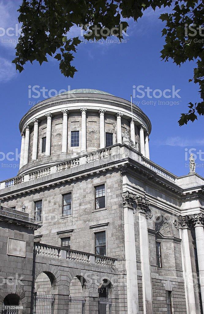 Four Courts Dublin royalty-free stock photo