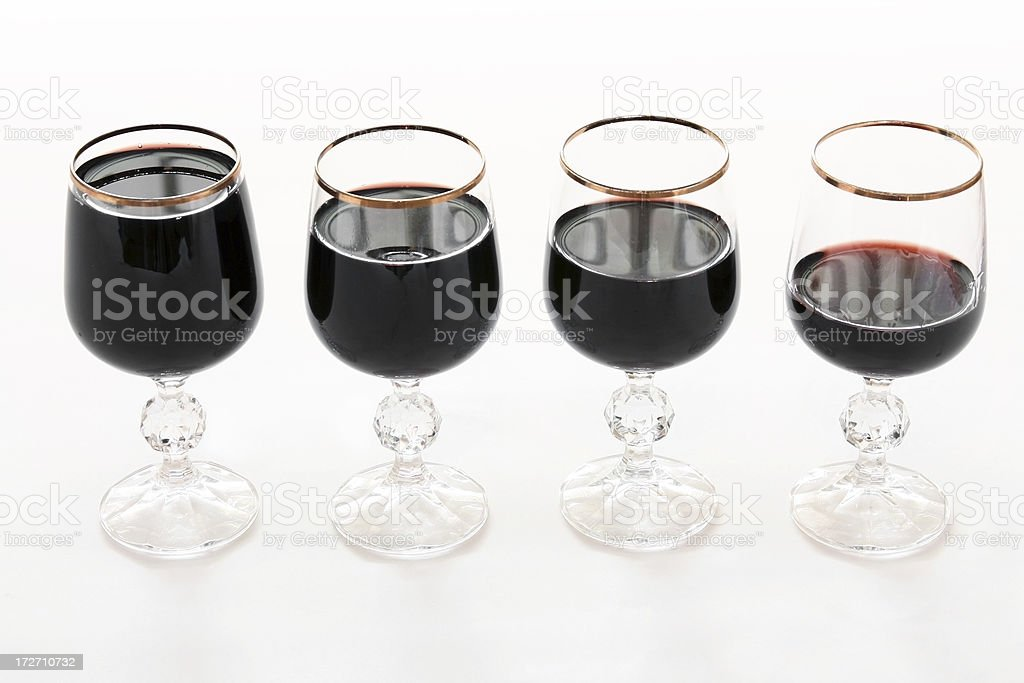 Four cups of wine royalty-free stock photo