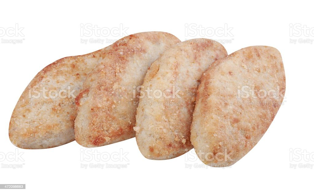 Four Cutlet Isolated stock photo