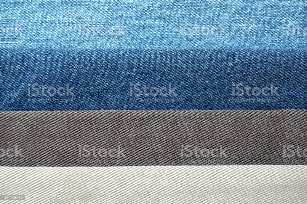 Four Denim Colors stock photo