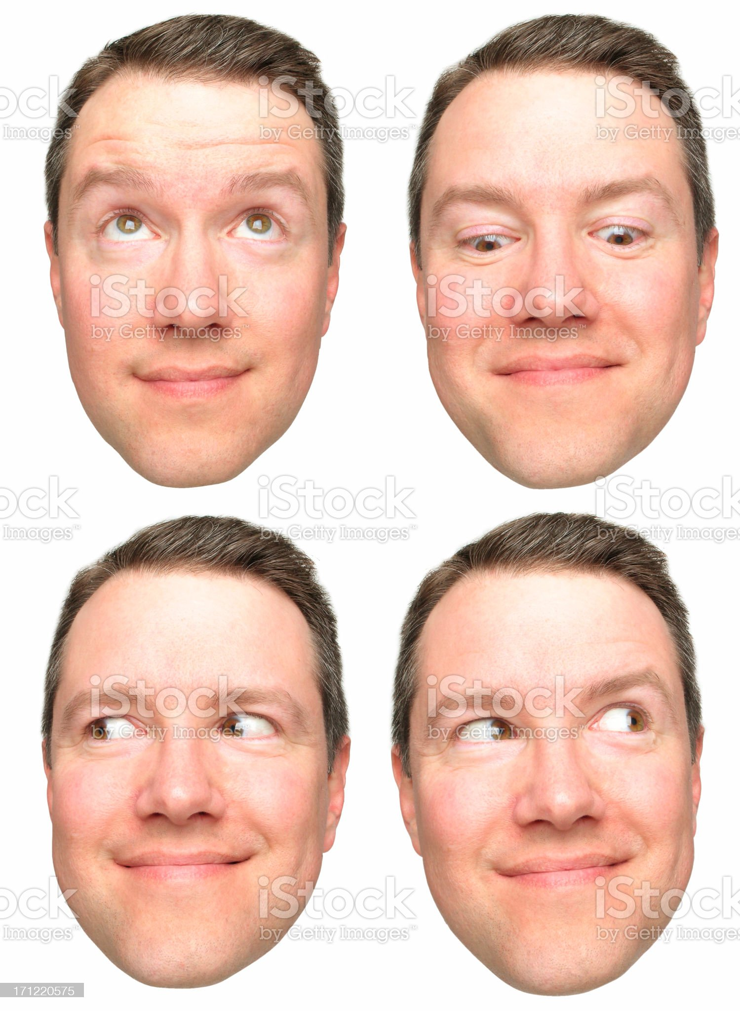 Four directions - up, down, left, right royalty-free stock photo