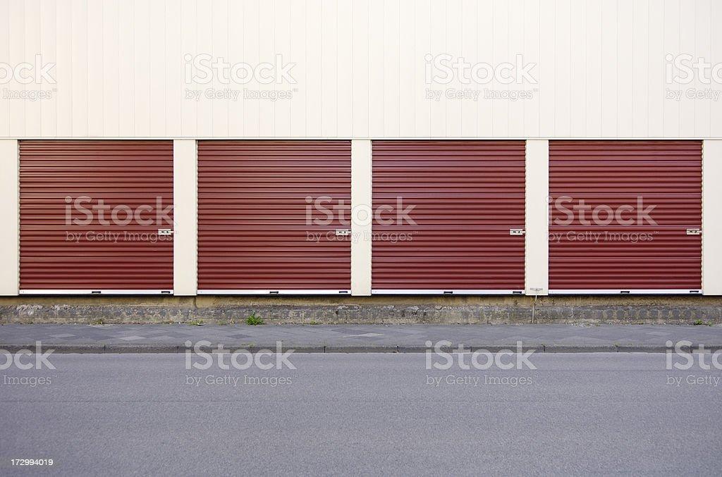 Four doors to choose stock photo