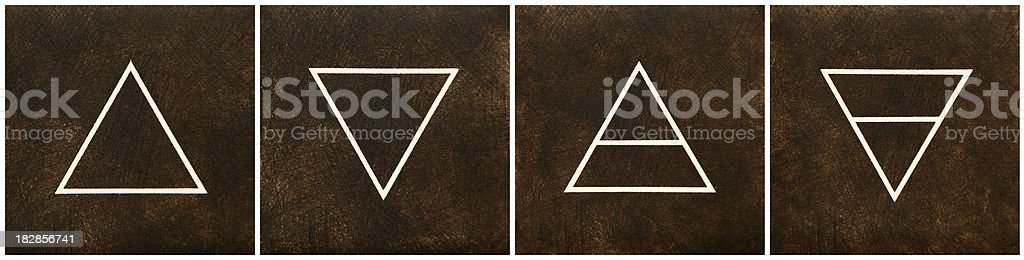 Four Elements: Fire, Water, Air, Earth royalty-free stock photo