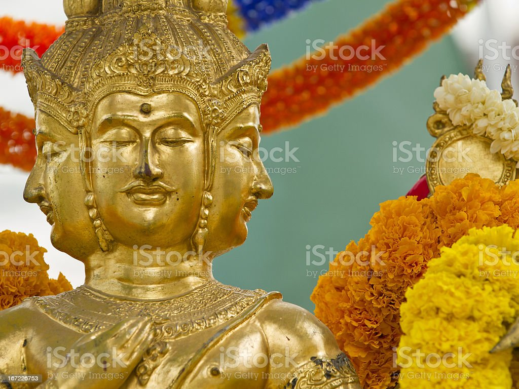 Four faced Buddha in Bangkok, Thailand royalty-free stock photo