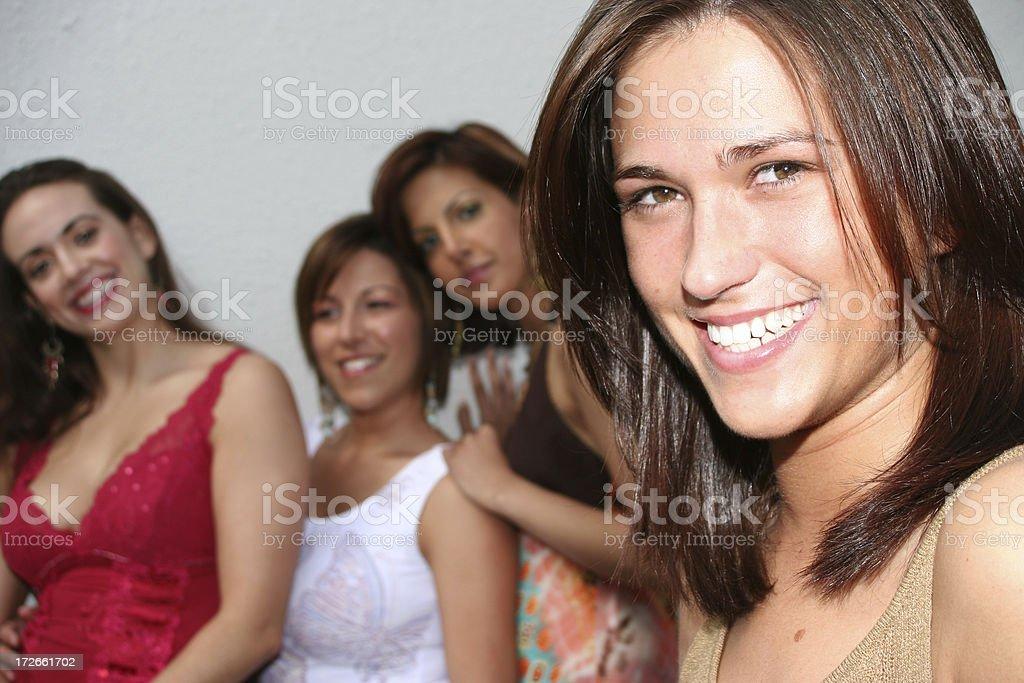 Four Females stock photo
