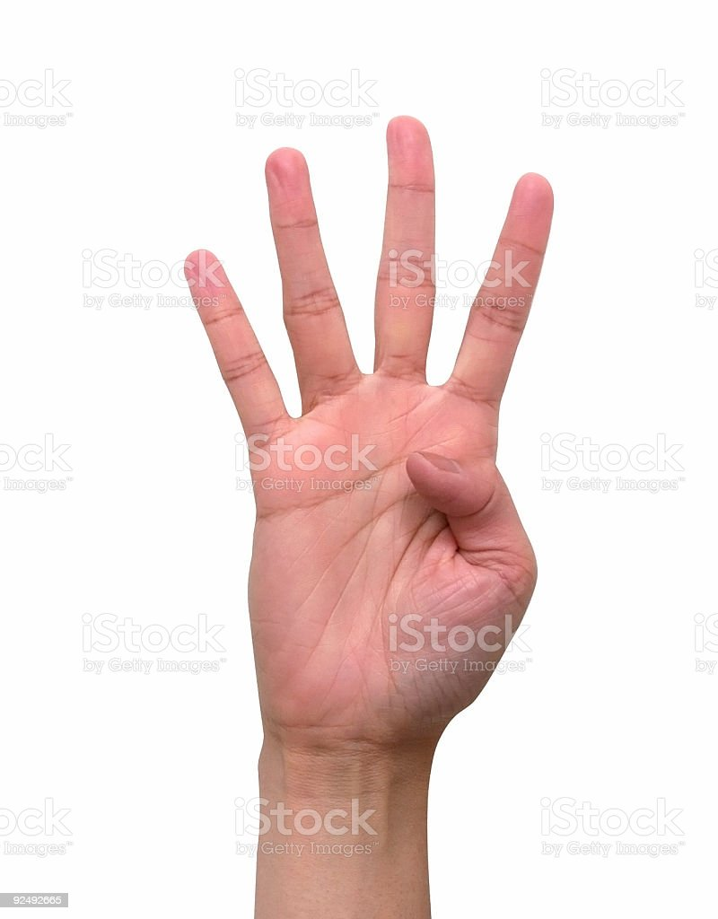 Four Fingers royalty-free stock photo