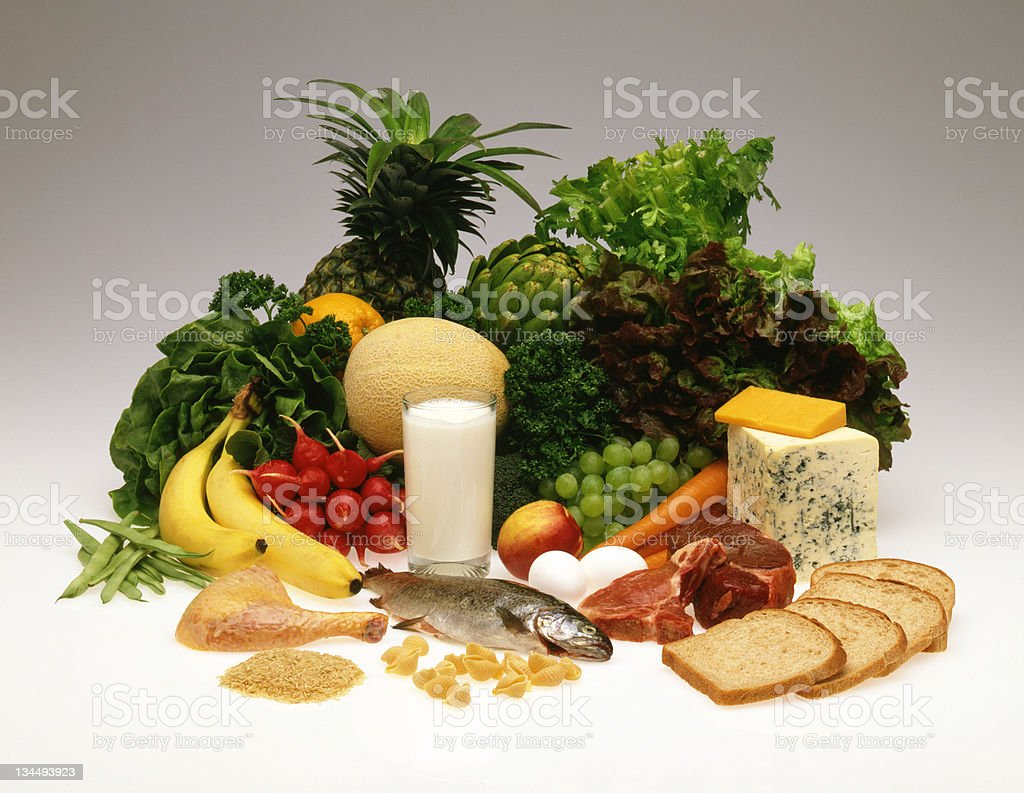 Four food Groups stock photo