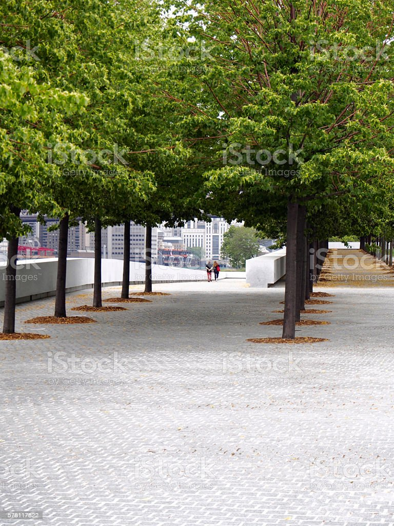 Four Freedom Park in Roosevelt island stock photo