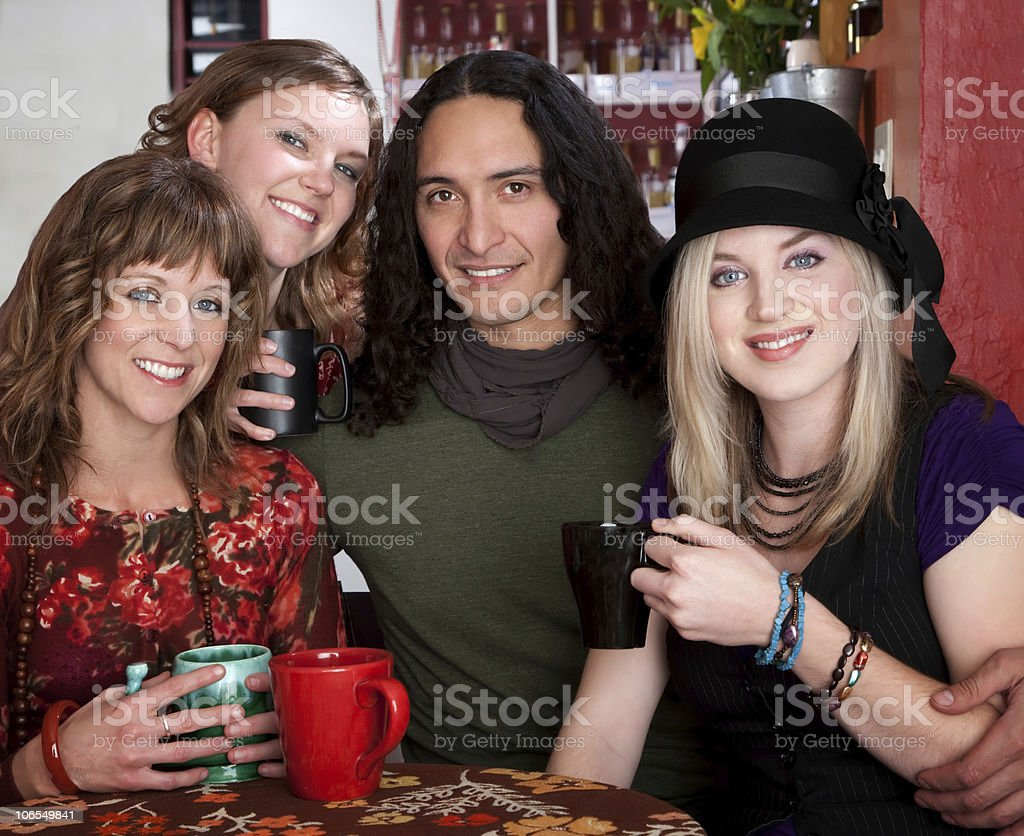 Four friends royalty-free stock photo