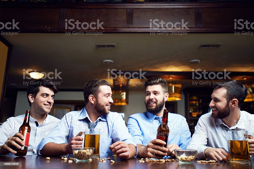 Four friends stock photo
