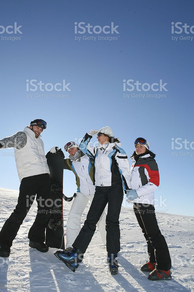 Four Friends Posing royalty-free stock photo