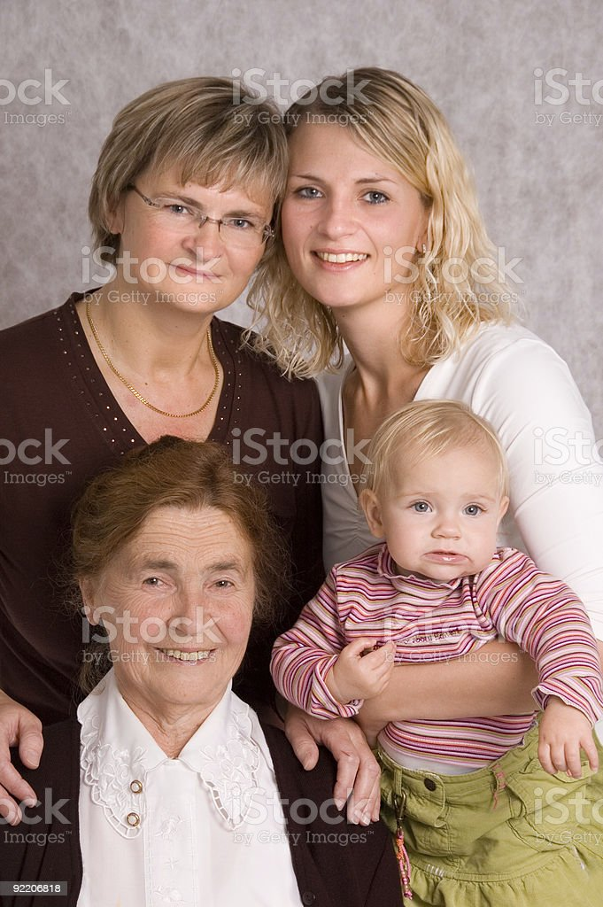 Four Generations 4 stock photo