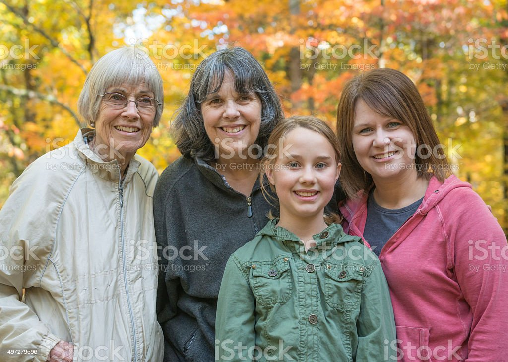 Four Generations of Women stock photo
