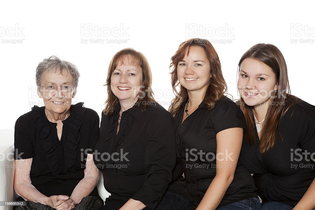 Four Generations stock photo