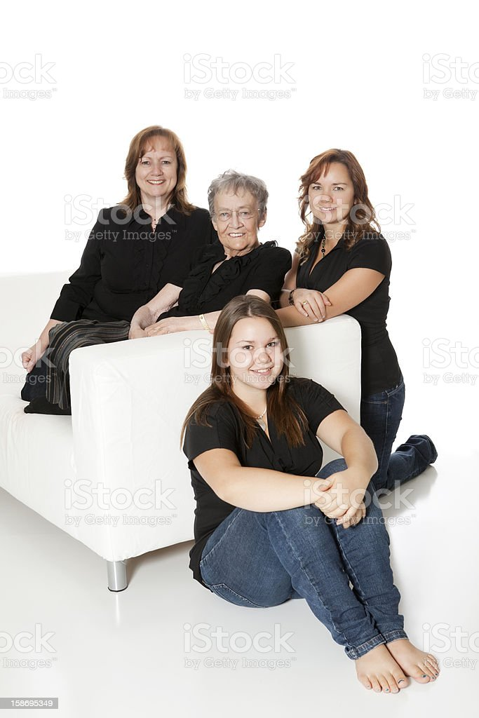 Four Generations royalty-free stock photo