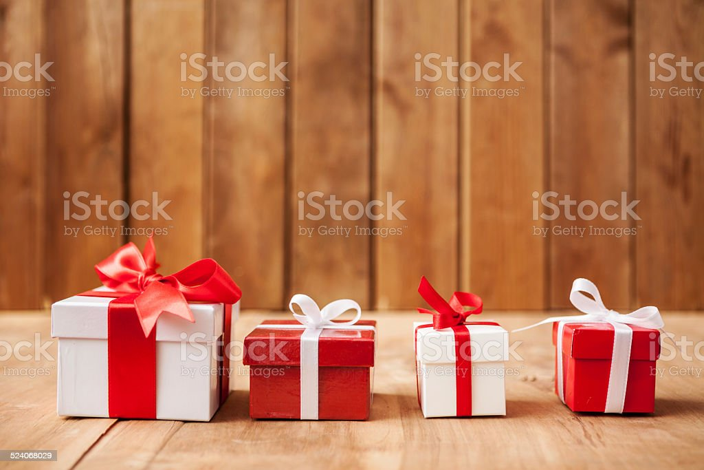 Four Gift Boxes stock photo