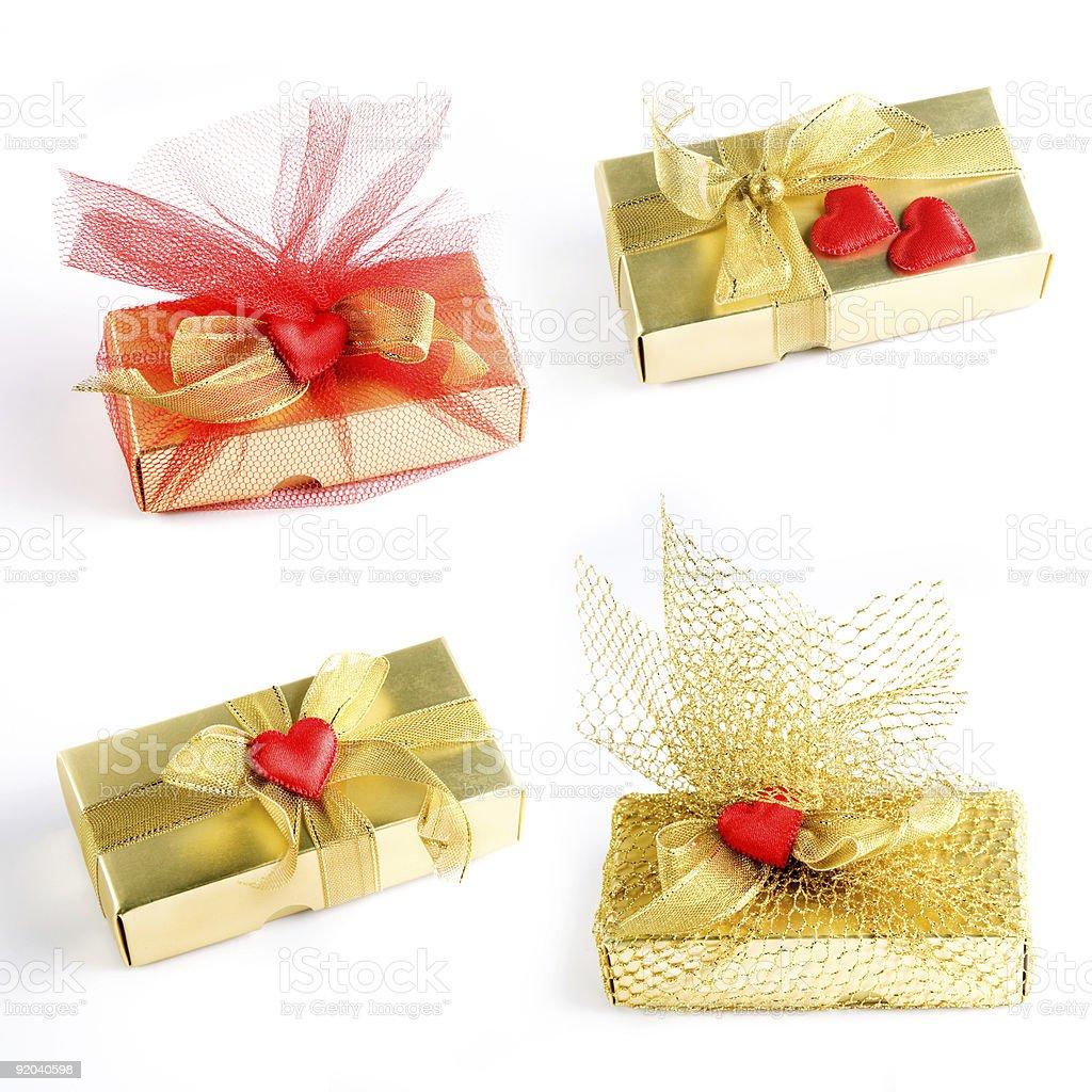 Four Gift Boxes stock photo