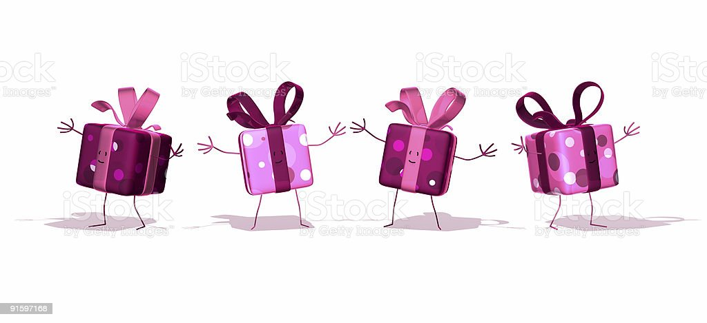 Four gifts royalty-free stock photo