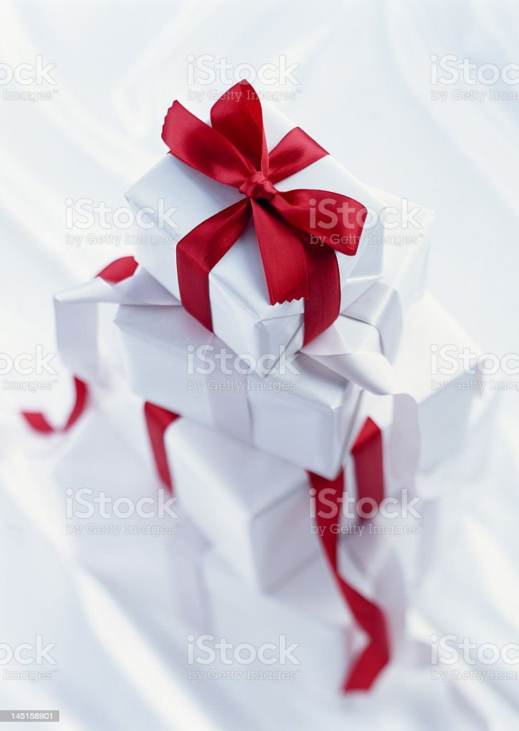 Four Gifts with nice focusing royalty-free stock photo