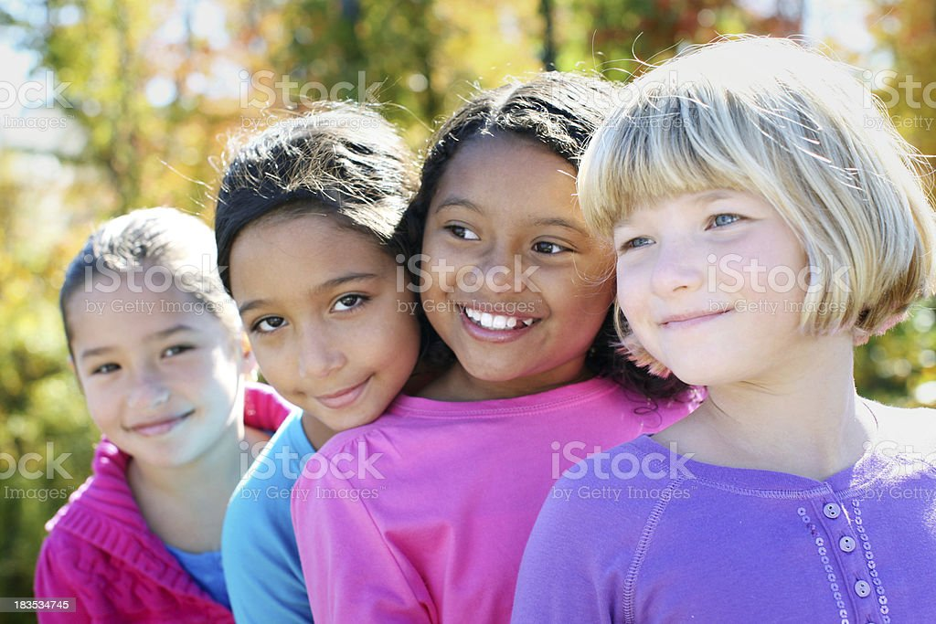 Four girls stock photo