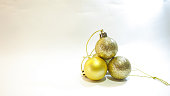four gold balls decoration object for christmas