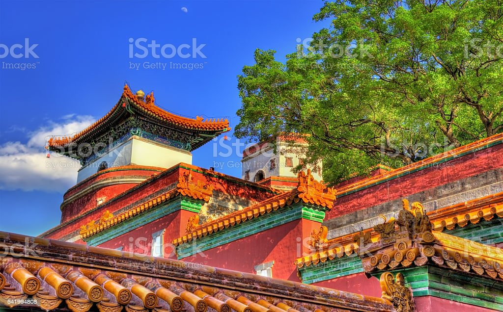 Four Great Regions Temple at the Summer Palace in Beijing stock photo