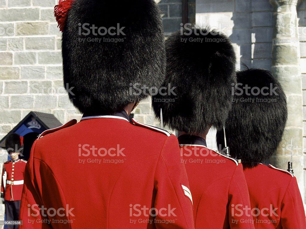 Four Guardsmen royalty-free stock photo
