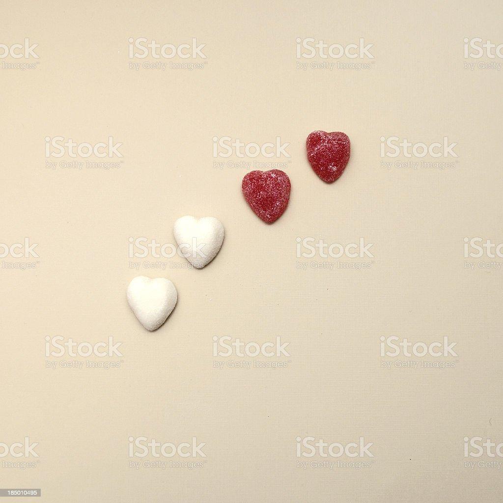 Four Hearts royalty-free stock photo
