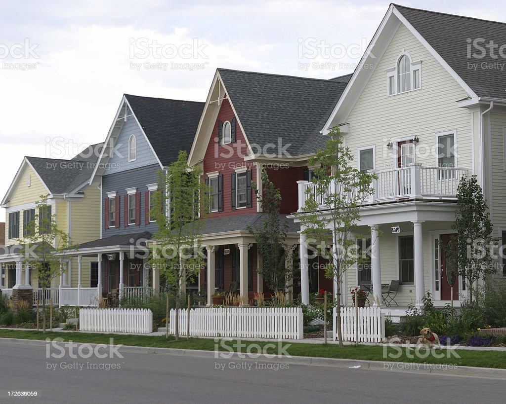 Four Houses stock photo