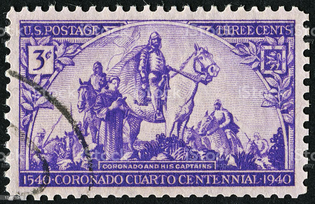 Four Hundreth Anniversary Of Coronado Stamp royalty-free stock photo