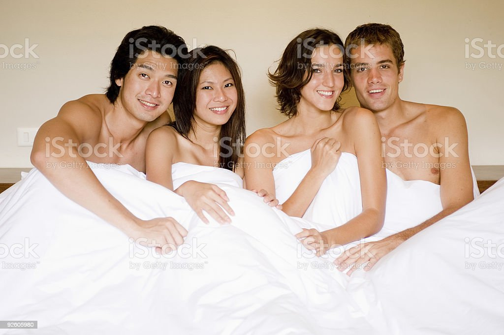 Four In A Bed royalty-free stock photo