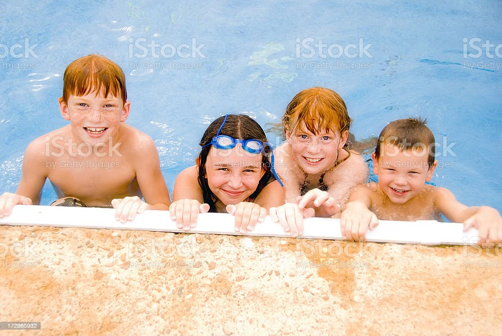 Four in the Pool royalty-free stock photo
